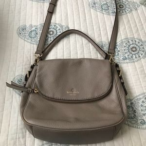 Grey leather Kate Spade Crossbody